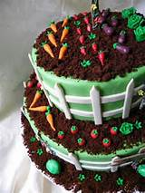 garden birthday cake design