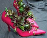 to recycle shoes for planters cheap decorations and backyard ideas