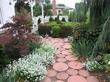 Garden Ideas : Round Stepping Stones Garden With Lights, Interior ...