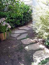 Flagstone pavers are a quick, easy and attractive way to set up a path ...