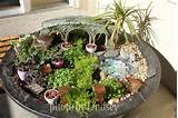 how to recycle recycled miniature fairy garden designs