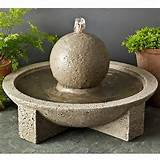 Sphere Terrace Fountain | For mum - garden sculpture ideas | Pinterest