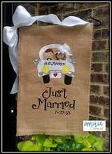 burlap flags gift ideasbrid gift ideas brids wedding gardens flags