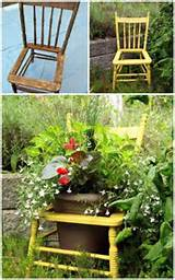 old wooden chair garden decorating idea creative ads