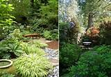 landscape ideas secret garden gravel path sitting area sight