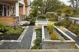 Vorgartengestaltung Beispiele Gartenteich Wasserpflanzen Ziergräser ...