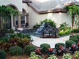 front yard waterfall from hgtv