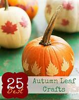 Autumn Leaf Crafts | Fall/Autumn/Harvest | Pinterest