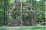 Custom Made Rustic Dome Roof Cedar Pergola by Rustic Garden Structures ...