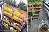 Pallets are great for balcony gardening! Photo Credit: Life on the ...