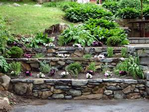 17 use rocks as small retaining walls for beautiful backyard terraces