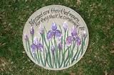iris garden stone