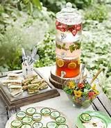 Food table party idea | Garden Party Ideas & Recipes | Pinterest