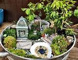 soap dish becomes a fairy garden pond an earring and tire swing