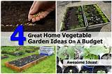 great home vegetable garden ideas on a budget
