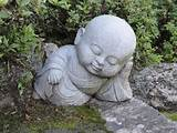 baby buddha asleep in japanese garden ideas pinterest