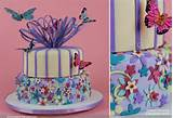 Butterflies hover around this cake, by Heather Barranco Dreamcakes ...