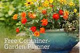 free container garden planner garden ideas pinterest