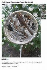 junk garden art | Garden | Pinterest