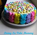 easy easter peeps cake the frugal female