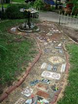 Collage Walkway | Garden Art & Ideas | Pinterest