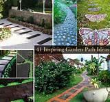 garden walkway ideas super cool concrete cobblestone garden paths