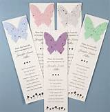 funeral gift butterfly seed bookmarks memorial bookmarks