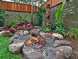 tropical fire pit tropical landscape ideas pinterest