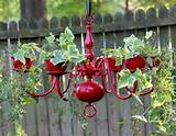 12. Chandelier Planter : What a totally brilliant use of a broken or ...
