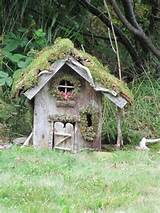 Fairy tiny wooden hut | woodland fairy inspiration | Pinterest