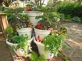 container garden tower pyramid how to grow a shade vegetable garden
