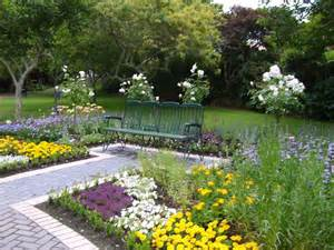 Gardening Ideas Design With Grey White Brick Garden Path Iron Garden ...