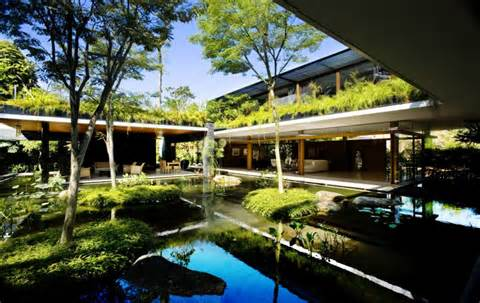 ... green roof house design, Singapore: Most beautiful houses in the world