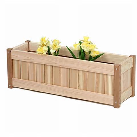joyful wood planter box plans easy