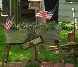 find an old wash stand and washtubs and you have a unique planter i