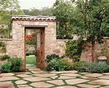 ... ideas with door garden garden gate Patio pavers rock wall rustic stone