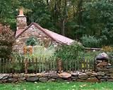 cottage rustic fence landscape fences yard decor country cottage