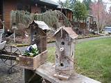 Rustic birdhouses | Garden Ideas | Pinterest