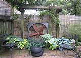 rustic and unique look design garden borders and rustic ideas garden
