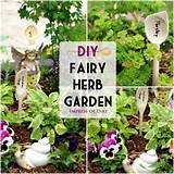 idea combining a fairy garden with a kitchen herb garden