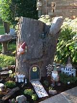 Gnome garden- good idea for an unsightly stump