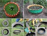 simple diy flower beds tyre flower bed via usefuldiy