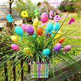 easter egg spring decor arrangement tutorial diy easter eggs