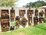 crate wall hangings garden ideas pallet garden gardening gardens