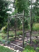 Garden Arbor- rustic | Projects | Pinterest