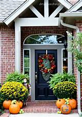 dimples and tangles outdoor fall decorating ideas