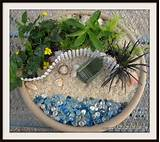 Start with a flower pot, basket, or the bottom of a tera cota pot ...