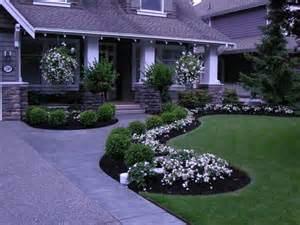 DIY small landscape ideas with flower beds for front yard