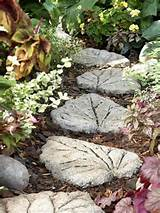 diy garden decoration ideas stone path from ornate stepping stones
