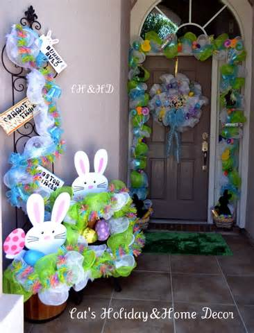 outdoor easter decoration ideas children garden party candy station